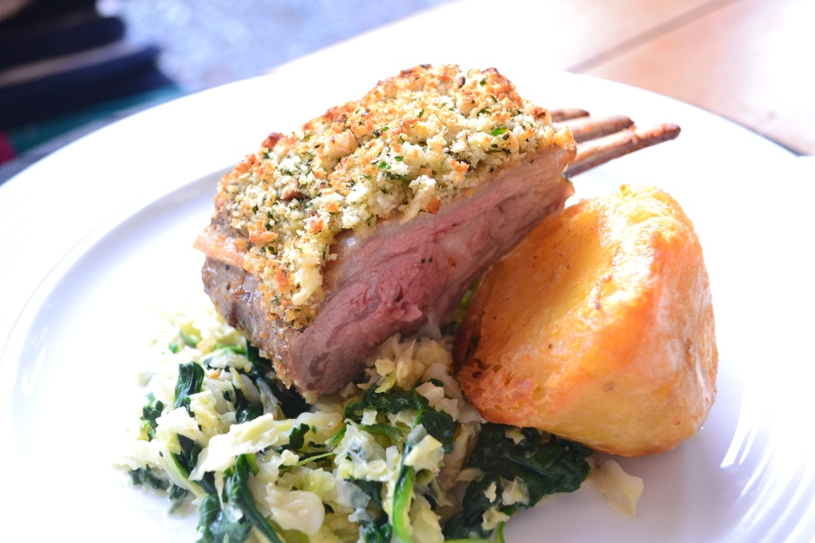 Rack of lamb witha herb crust