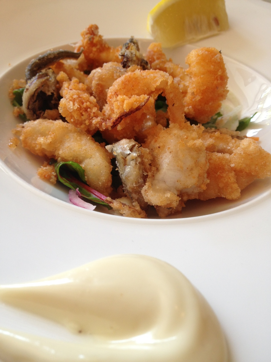 Crispy and light seafood