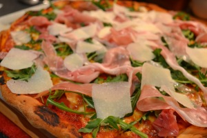 Parma Ham and Rocket Pizza