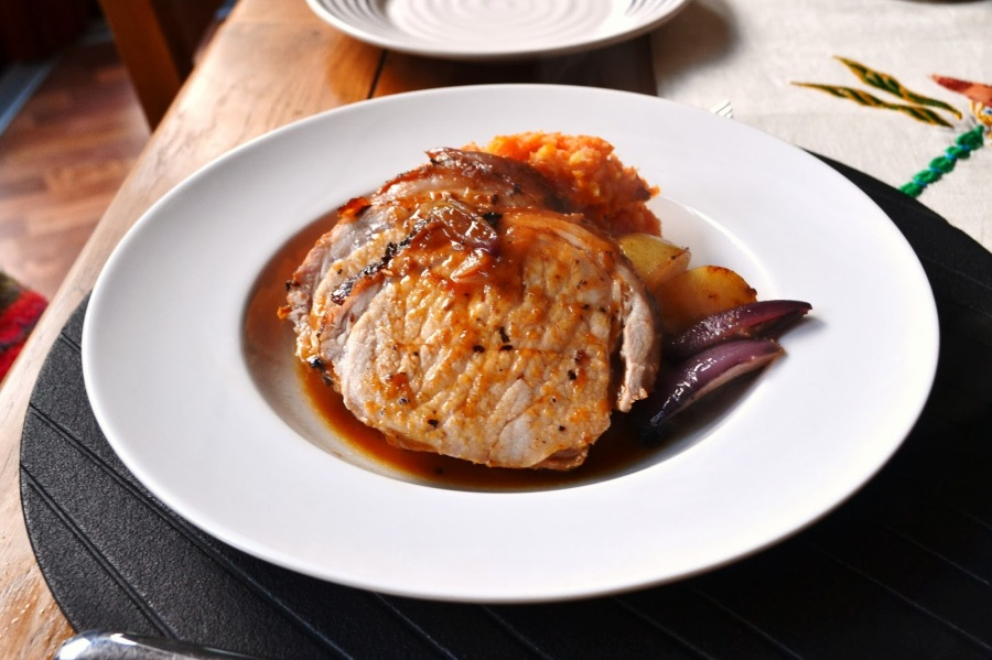 Pork Loin roasted with Cider
