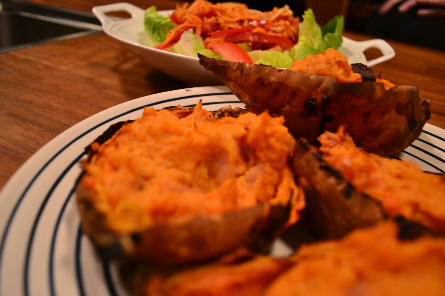 Sweet Potato baked with Pancetta