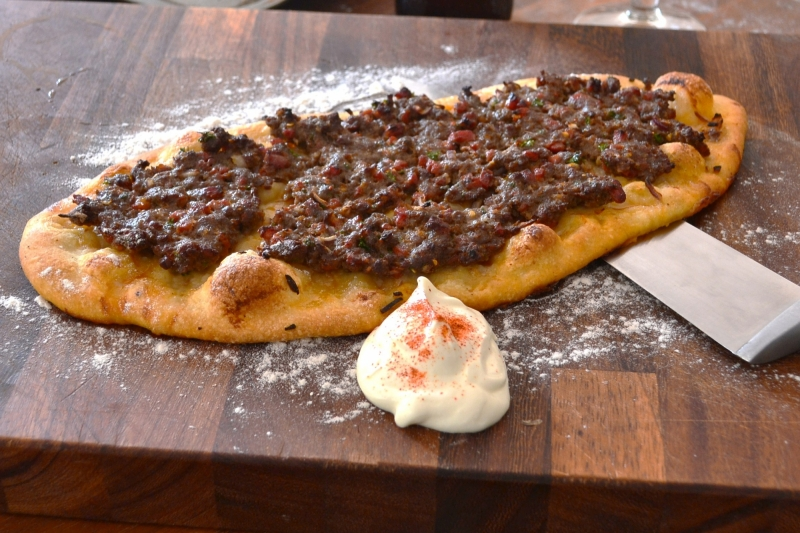Flatbreads with lamb