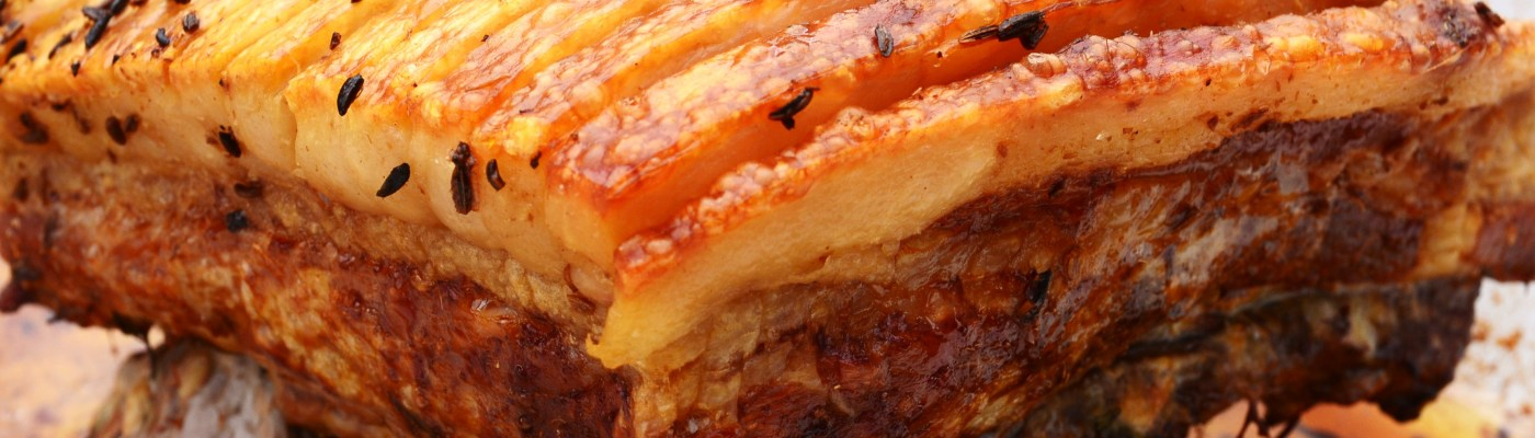 Slow roasted pork belly